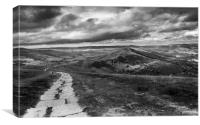 Mam Tor and Great Ridge, Canvas Print