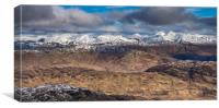 Looking North from Ben Lomond, Canvas Print