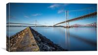 The Bridges over the Forth, Canvas Print