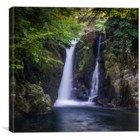 The Grot, Waterfall at Rydal Hall in the Lake Dist, Canvas Print