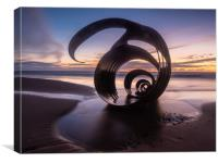 Mary's Shell at Cleveleys Beach, Canvas Print