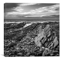Fault lines in the rocks at St Monans, Canvas Print