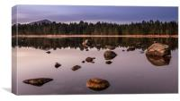 First light over Loch Morlich, Scotland, Canvas Print