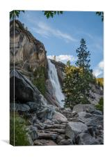 Hiking up to Nevada Falls, Canvas Print