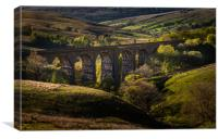 Looking down over Dent Head Viaduct, Canvas Print