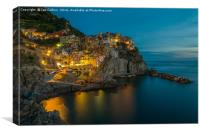 Twilight in Manarola, Canvas Print