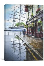 Cutty Sark in a puddle, Canvas Print