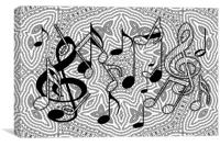 Music notes, Canvas Print