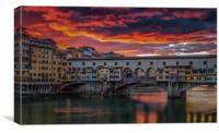 Ponte Vecchio Sunset #2, Canvas Print