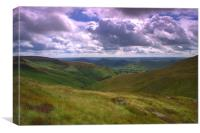 View from Kinder Scout, Canvas Print
