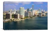 Aerial View of Miami Skyline , Canvas Print