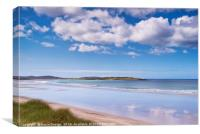North Uist: Across the West Beach to Vallay, Canvas Print