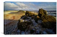 Crook Hill in Winter, Canvas Print
