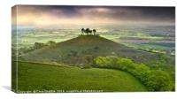 Colmers Hill at dawn on a dark and gloomy morning , Canvas Print