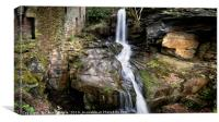 The Cornmill waterfall in spate, Lumsdale, Canvas Print