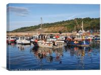 Fishing Boats At Lyme Regis Harbour, Canvas Print