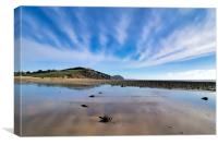 Winter Seascape at Charmouth 2, Canvas Print
