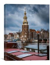 Canals of Amsterdam, Canvas Print