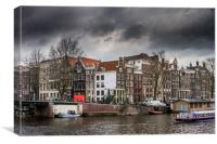The city of Amsterdam, Canvas Print