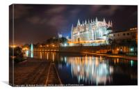La Seu, the gothic medieval cathedral of Palma de , Canvas Print