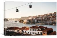Old town of Porto on Douro River, Portugal., Canvas Print