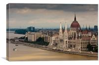 Parlament in Budapest, Canvas Print