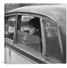 Girl in Car, Canvas Print