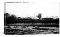 View from Hayling., Canvas Print