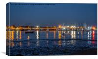 Night time reflections., Canvas Print