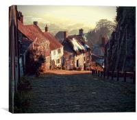 """Gold Hill     The """"Hovis"""" Hill       , Canvas Print"""
