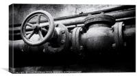 Pipes and wheels, Canvas Print