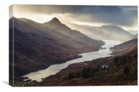 Kinlochleven, Mamore Lodge, and The Pap of Glencoe, Canvas Print