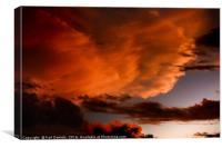 Fires in the sky, Canvas Print