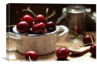 Cherries Time is summertime, Canvas Print