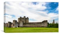 Front view of Trim Castle in Ireland  , Canvas Print