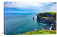 Cliffs of Moher in Ireland Europe , Canvas Print