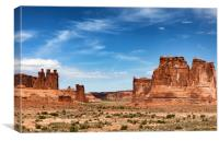Monument Valley Navajo Tribal Park in America duri, Canvas Print