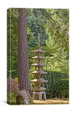 japanese zen garden, Canvas Print