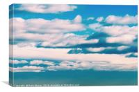 White Soft Clouds On Blue Turquoise Sky, Canvas Print