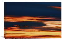 Beautiful Red And Orange Summer Sunset Sky, Canvas Print