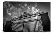 Bill Shankly gates Anfield, Canvas Print