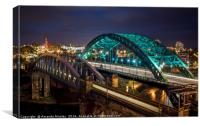 The Wearmouth Bridge, Canvas Print