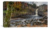 High Force in Teesdale, Canvas Print
