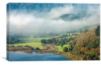Mist in the Talybont Valley Brecon Beacons, Canvas Print