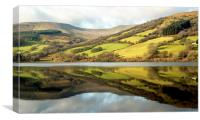Talybont Reservoir Reflections, Canvas Print