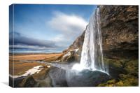 Seljalandsfoss Waterfall Iceland, Canvas Print
