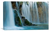 Waterfall Close Up at Plitvice, Canvas Print