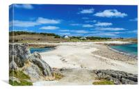 The Bar between Gugh and St Agnes, Canvas Print
