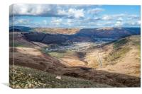 Looking Down on Cwmparc in the Rhondda Fawr Valley, Canvas Print