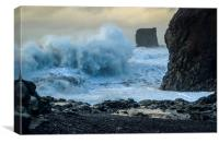 Rough Seas off Iceland, Canvas Print